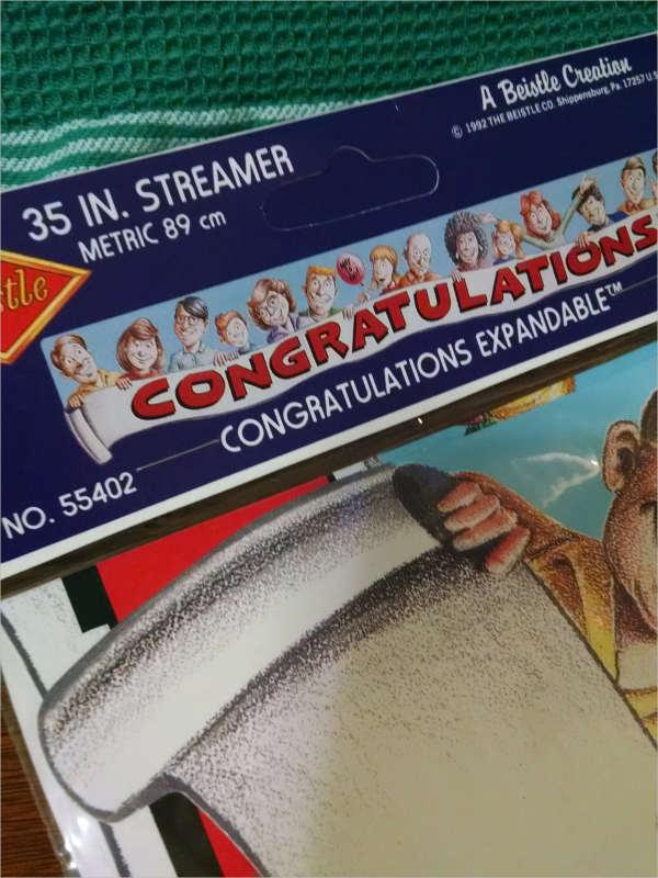 Vintage Congratulations Banner