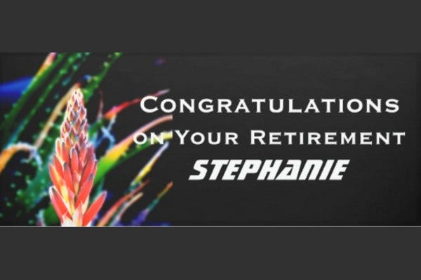 Retirement Congratulations Banner