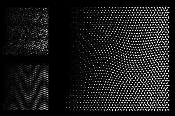 square halftone vector