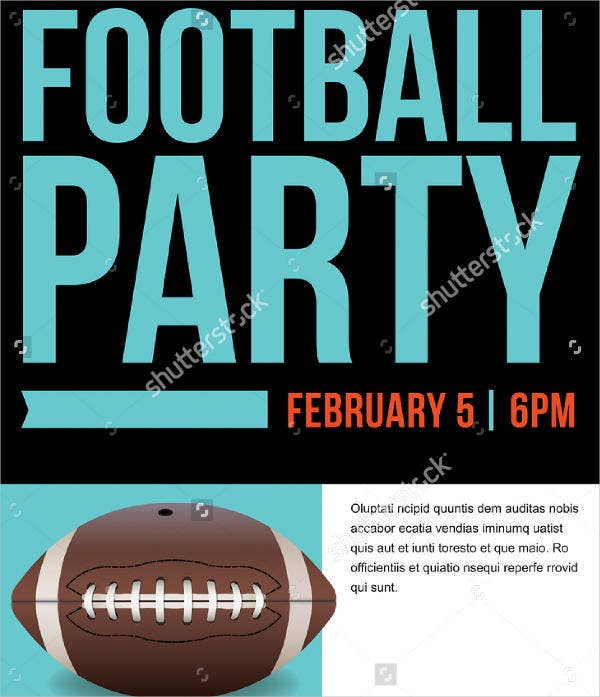 Football Party Invitation Template