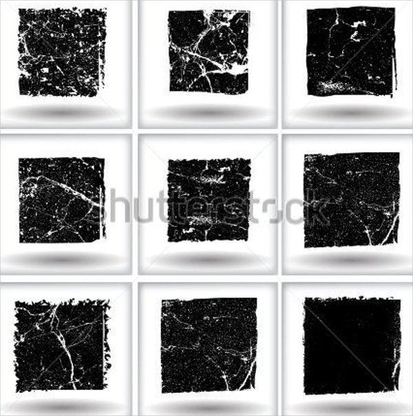 grunge square vector