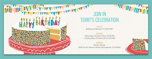 E Mail Birthday Party Invitation
