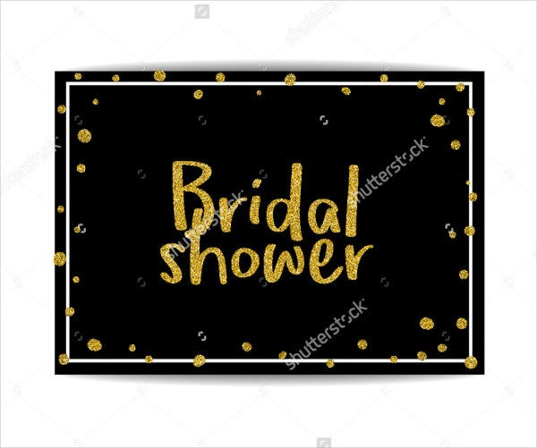 Bridal Shower Sparkle Invitation