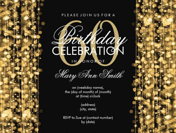 Gold Sparkle Invitation
