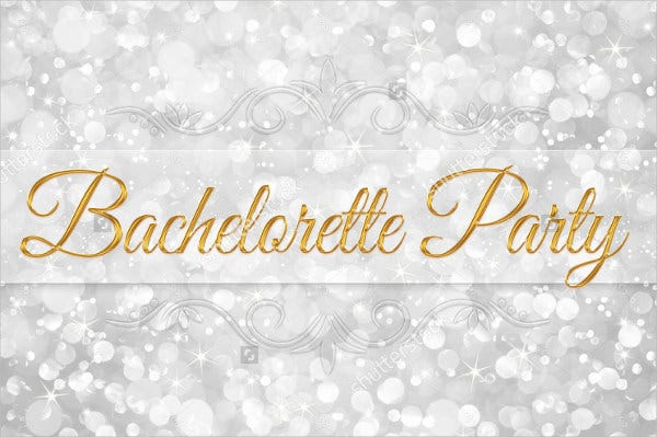 Sparkle Invitation for Bachelorette Party
