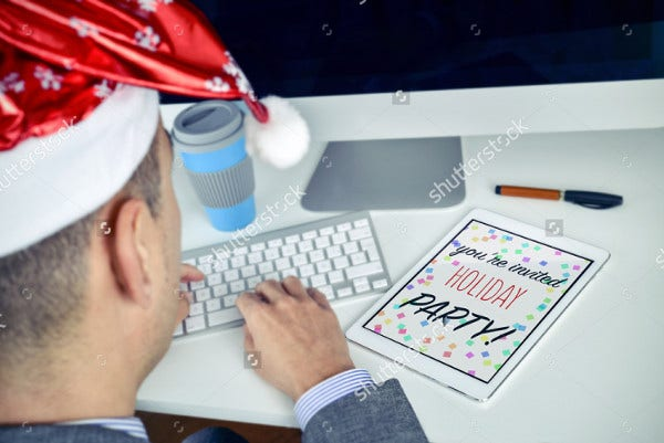 Email Holiday Party Invitation