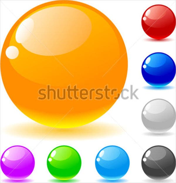 glossy-ball-vector