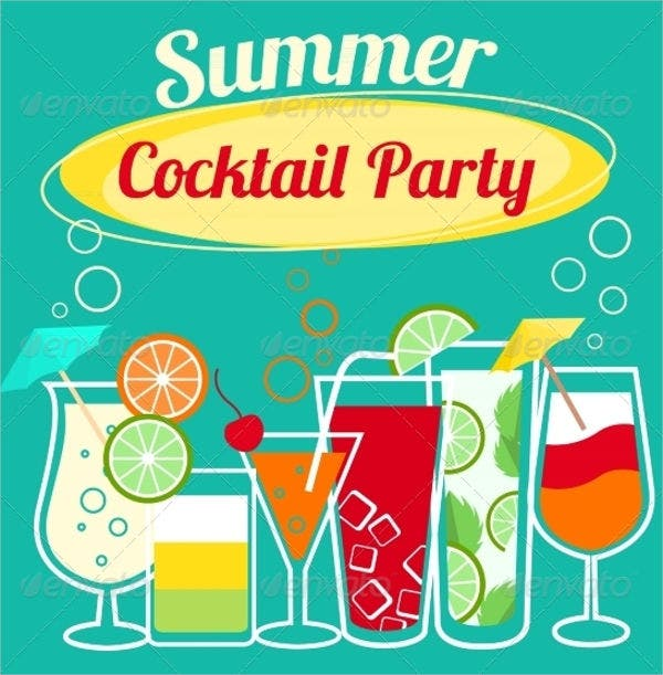 10 Summer Party Invitations Free Editable PSD AI Vector EPS – Cocktail Party Invitations Templates Free