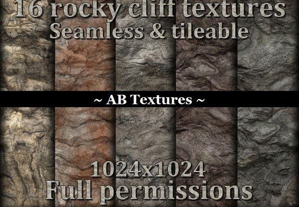16 rocky cliff textures