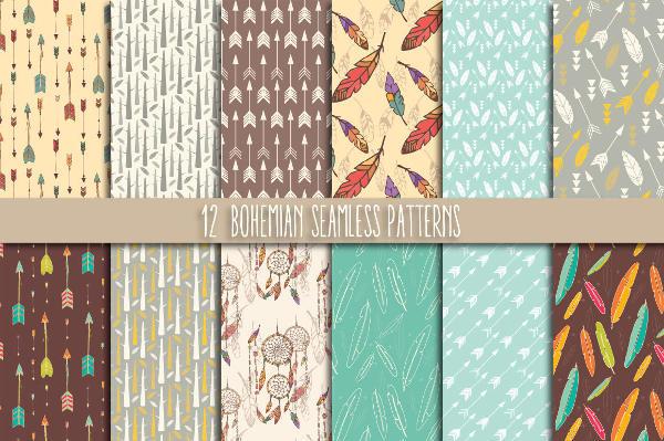 seamless-bohemian-pattern