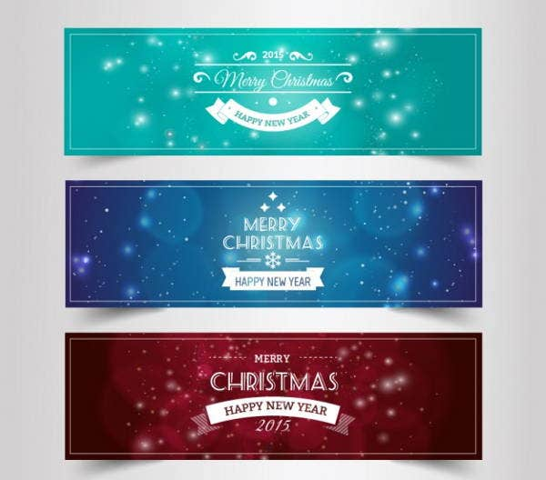 merry christmas vintage banner
