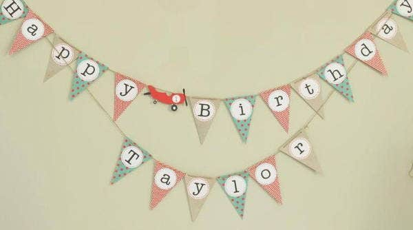 personalized vintage banner