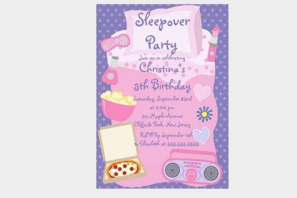 creative sleepover invitation