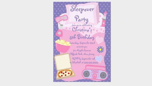 sleepoverinvitations
