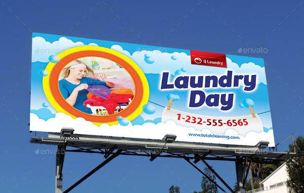 laundry service outdoor banner
