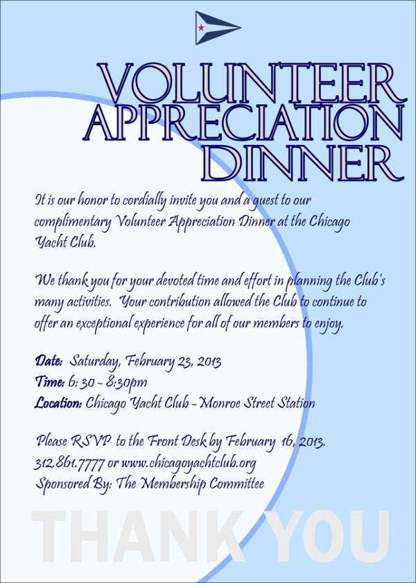 8+ Appreciation Dinner Invitations - Word, PSD, AI ...