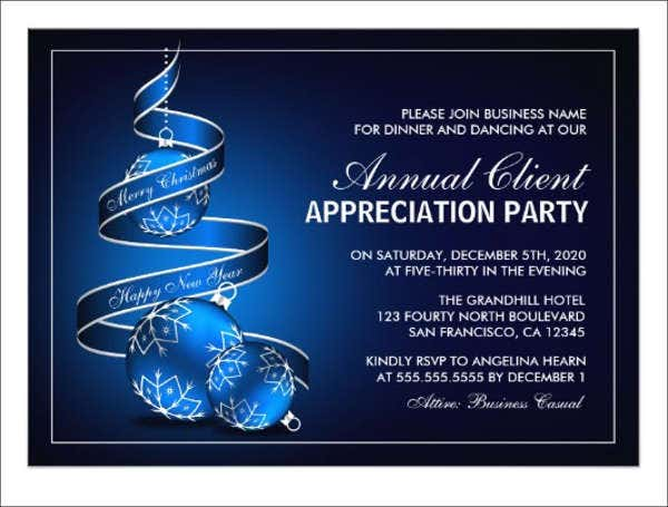 8  appreciation dinner invitations