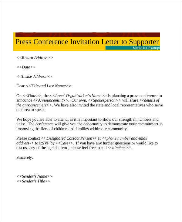 formal conference invitation letter template2