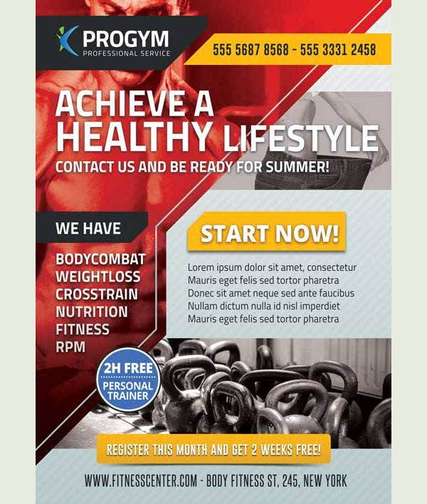 11  health and fitness flyers