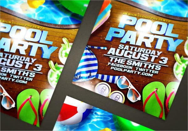 swimming pool party flyer