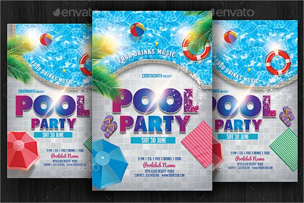 beach pool party flyer1