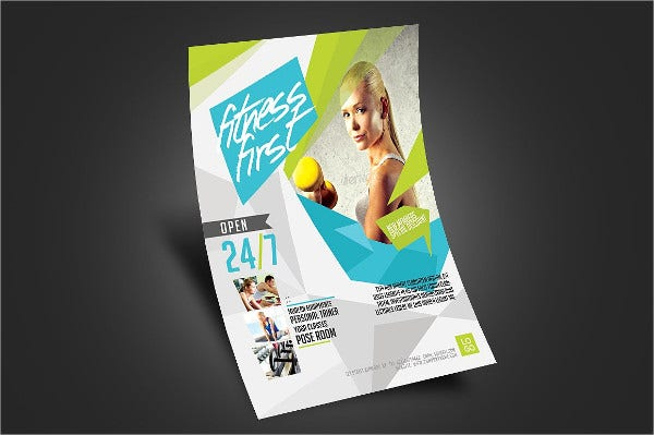 a4 gym fitness flyer
