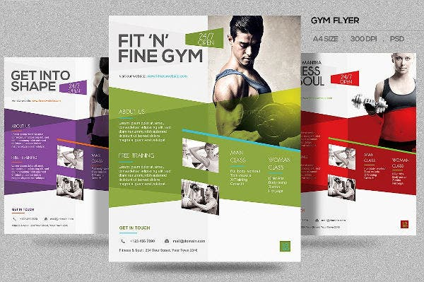 Gym Fitness Flyers  Design Templates  Free  Premium Templates