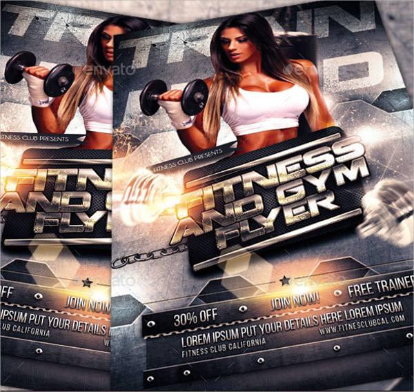 gym fitness sports flyer