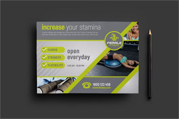 Female Gym Fitness Flyer