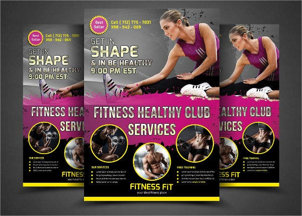 13   gym fitness flyers