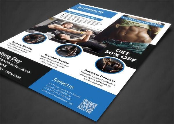 gym fitness club flyer