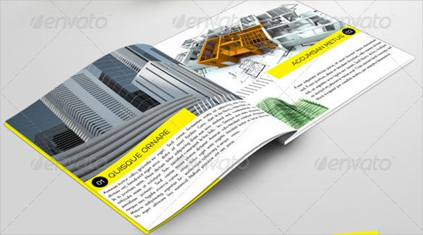 corporate construction company brochure