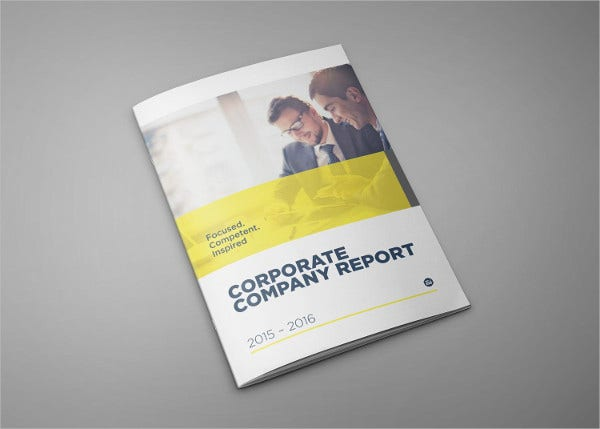 modern corporate company brochure