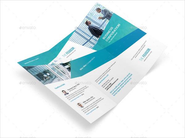 corporate company trifold brochure