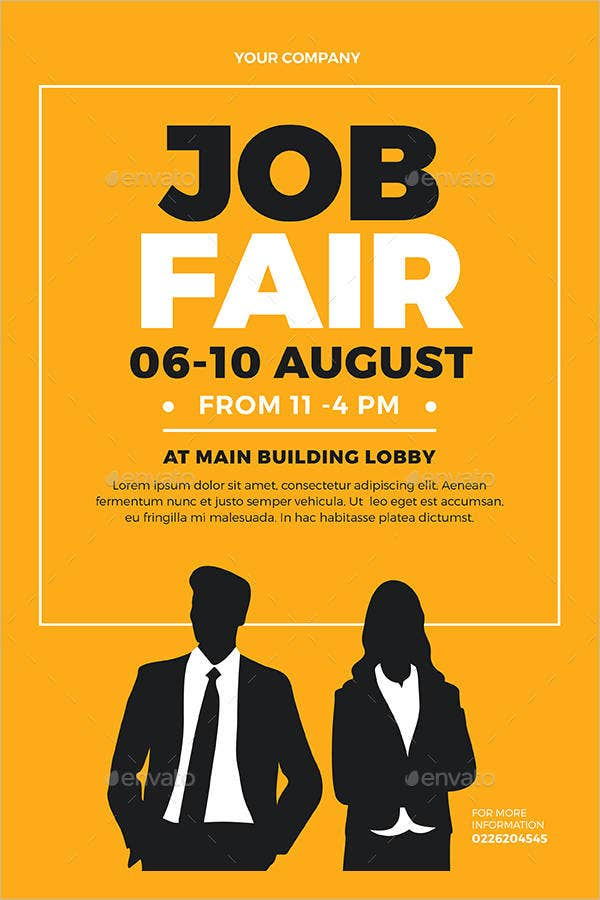 10  job fair flyer templates