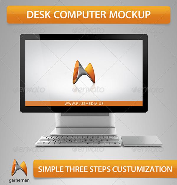 Computer Desk Mockup