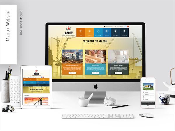 Website Computer Mockup