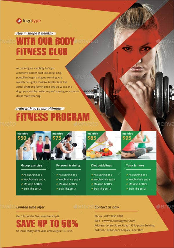 Gym & Fitness Club Flyer