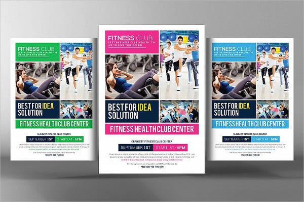 Fitness Health Club Flyer