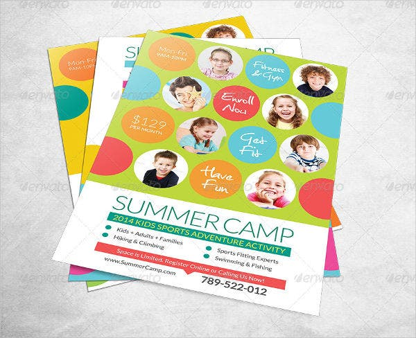 Summer Camp Fitness Club Flyer