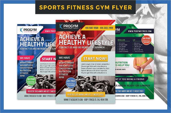 Sports and Fitness Club Flyer