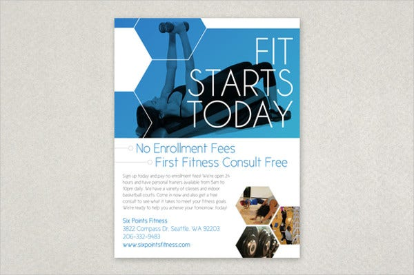 Modern Fitness Club Flyer