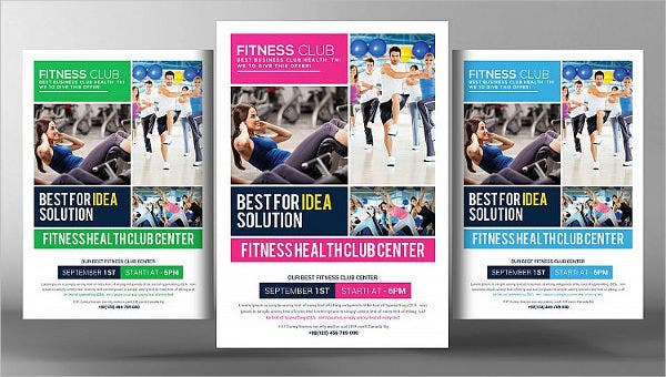 finess club flyer templates