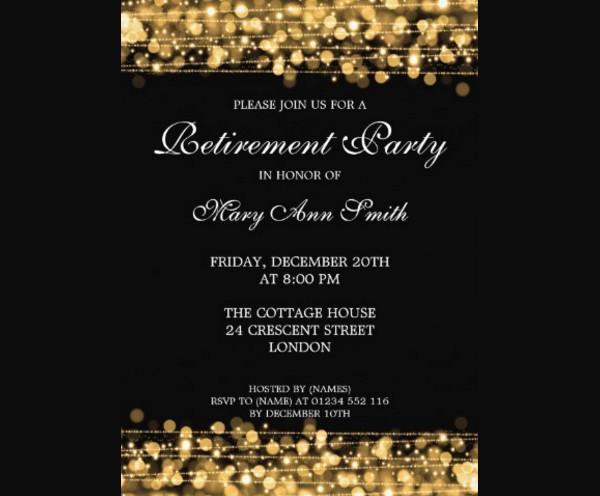 sparkle invitation for retirement1