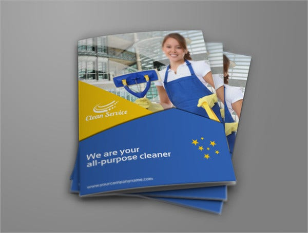 Cleaning Company Bifold Brochure