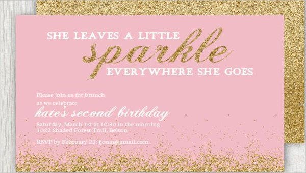 9 sparkle invitations