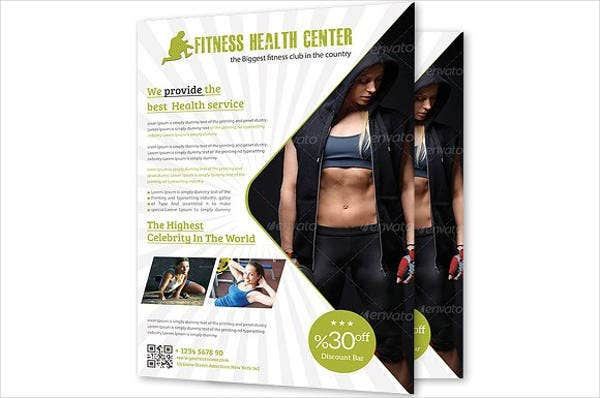 health and fitness center flyer1