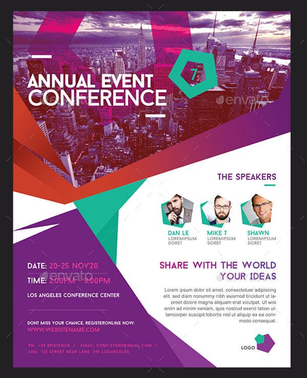 14  best conference flyer designs -