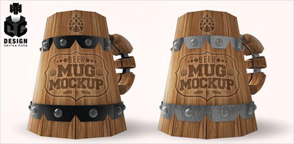 beer mug mockup