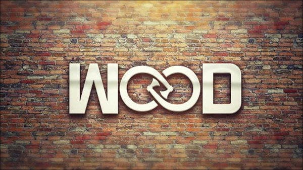 abstract wood logo design